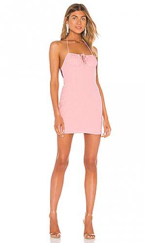 Мини платье karmine superdown. Цвет: розовый