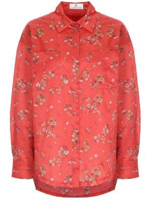 Рубашка хлопковая с принтом LAROOM