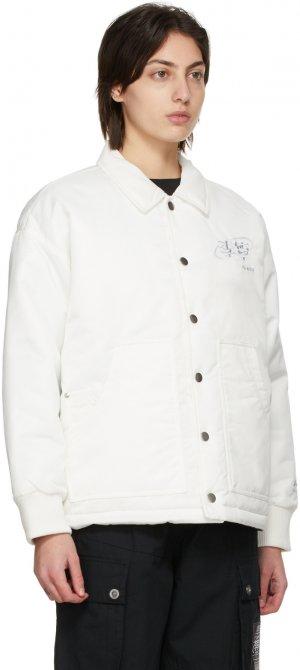 Reversible White Level Up Jacket Li-Ning. Цвет: white