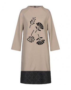Короткое платье 1-ONE. Цвет: песочный