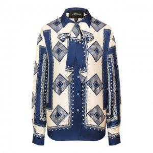 Шелковая блузка Marc Jacobs Runway. Цвет: синий