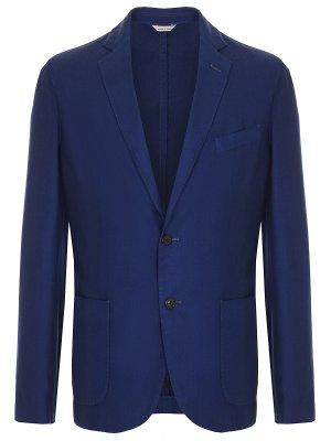 Пиджак casual кашемировый Colombo. Цвет: синий