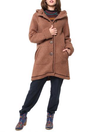 Пальто Kata Binska. Цвет: коричневый