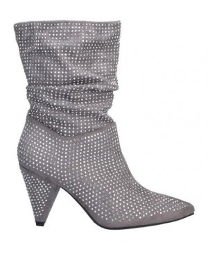 Полусапоги и высокие ботинки FORNARINA. Цвет: серый