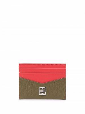 Картхолдер с логотипом 4G Givenchy. Цвет: красный