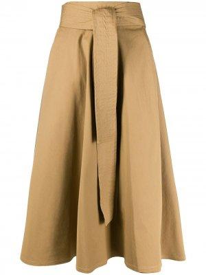 Расклешенная юбка миди Maison Flaneur. Цвет: нейтральные цвета