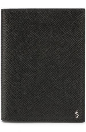 Кожаная обложка для паспорта Serapian. Цвет: черный