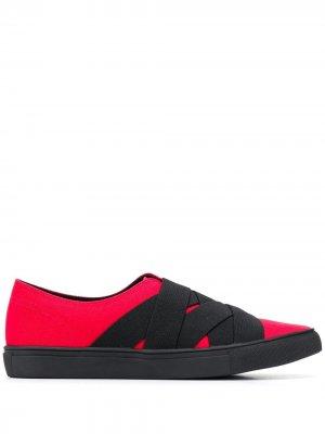 Кроссовки-слипоны с ремешками Yohji Yamamoto. Цвет: черный
