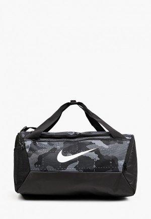 Сумка спортивная Nike NK BRSLA S DUFF - 9.0 AOP FH21. Цвет: серый