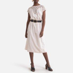 Платье-миди LaRedoute. Цвет: белый
