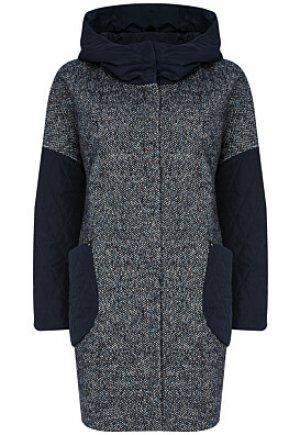 Комбинированное пальто с капюшоном Electrastyle
