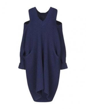 Короткое платье BRIAN DALES. Цвет: синий