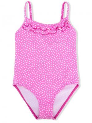 Слитный купальник с принтом Elizabeth Hurley Beach Kids. Цвет: розовый