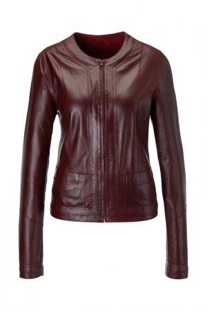 Куртка кожаная Madeleine. Цвет: bordeaux