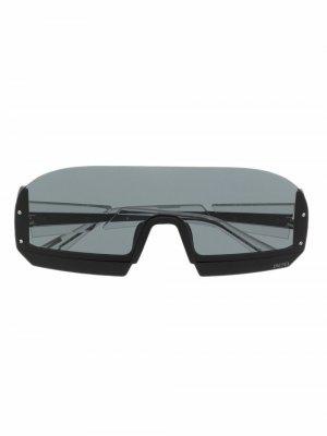 Солнцезащитные очки-маска DL0336 Diesel. Цвет: черный