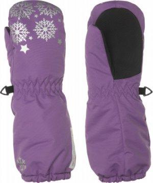 Варежки для девочек , размер 3 Glissade. Цвет: фиолетовый