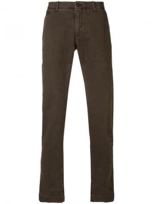 Классические брюки-чинос Jacob Cohen. Цвет: коричневый