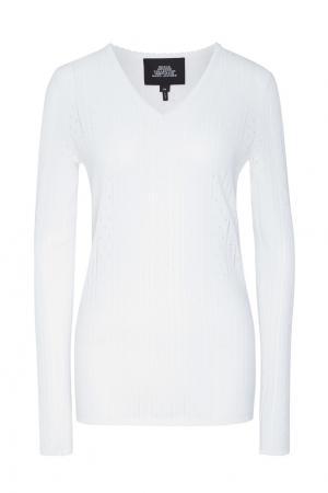 Белый пуловер с ажурной отделкой The Marc Jacobs. Цвет: белый