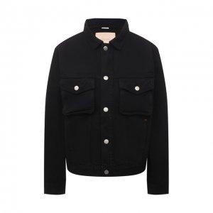 Джинсовая куртка Heron Preston for Calvin Klein. Цвет: чёрный