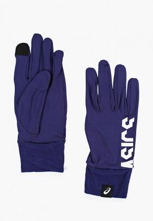 Перчатки ASICS BASIC GLOVES. Цвет: синий