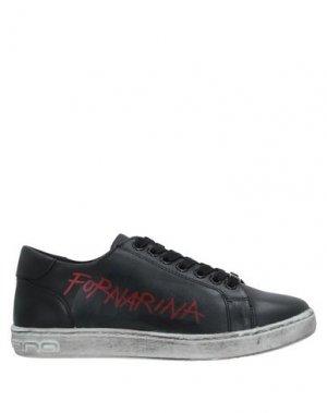 Низкие кеды и кроссовки FORNARINA. Цвет: черный