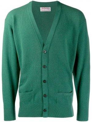 Кардиган 1980-х годов с приспущенными плечами Ballantyne Vintage. Цвет: зеленый