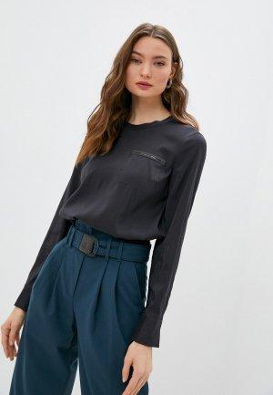 Блуза Brunello Cucinelli. Цвет: серый