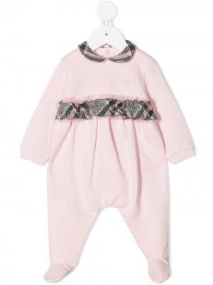 Пижама с клетчатыми вставками Il Gufo. Цвет: розовый