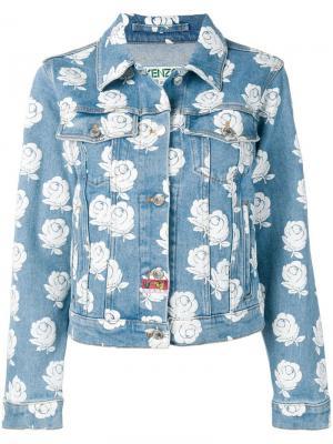 Джинсовая куртка с узором Kenzo