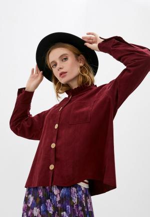 Блуза Forte. Цвет: бордовый