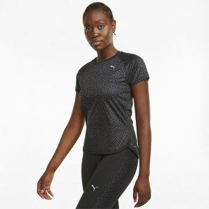 Футболка Graphic Short Sleeve Women's Running Tee PUMA. Цвет: черный