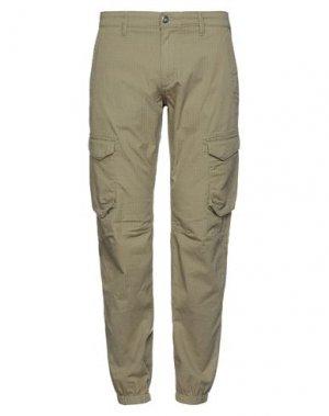Повседневные брюки TIMBERLAND. Цвет: зеленый-милитари