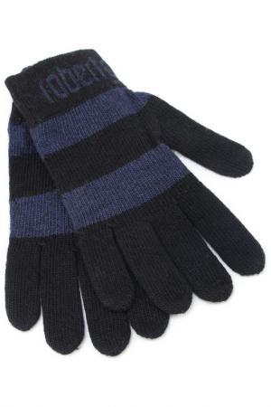 Перчатки Roberto Cavalli. Цвет: синий