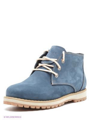 Ботинки FRIENDLY. Цвет: синий