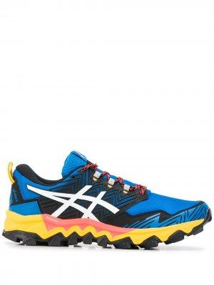 Кроссовки в стиле колор-блок ASICS. Цвет: синий