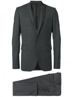 Строгий костюм-двойка Les Hommes. Цвет: черный