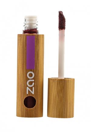 Лак для губ ZAO Essence of Nature 032 жемчужно-сливовый, 5 мл. Цвет: бордовый