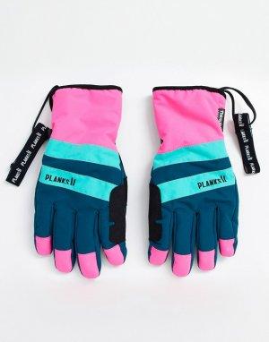 Синие утепленные перчатки -Синий Planks