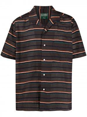 Полосатая рубашка Gitman Vintage. Цвет: коричневый
