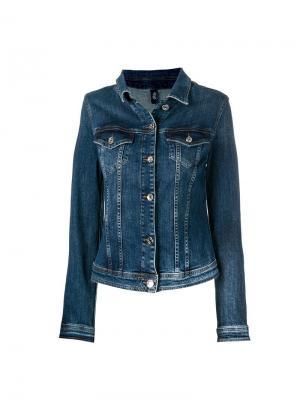Классическая джинсовая куртка Liu Jo. Цвет: синий