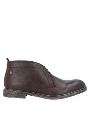 Полусапоги и высокие ботинки BASE London. Цвет: темно-коричневый