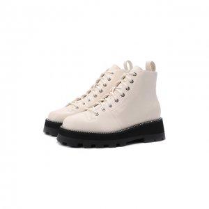 Кожаные ботинки Colby Jimmy Choo. Цвет: кремовый