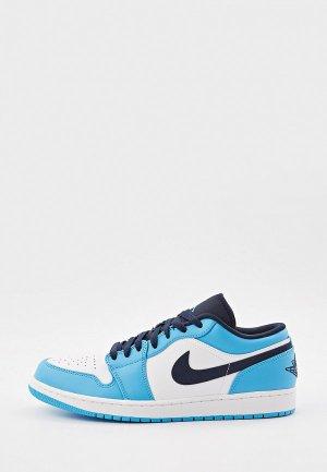 Кеды Jordan AIR 1 LOW. Цвет: голубой