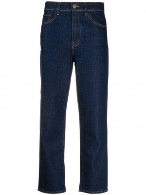 Укороченные джинсы средней посадки Twin-Set. Цвет: синий