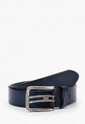Ремень Franco Frego. Цвет: синий