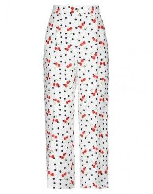 Повседневные брюки CASTING. Цвет: белый