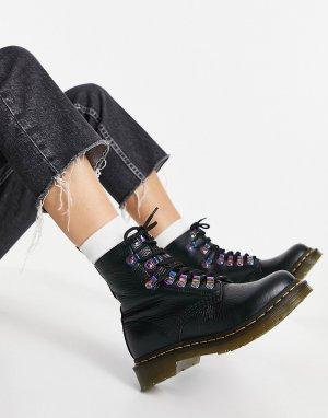 Черные ботинки с переливающейся фурнитурой 1460 Pascal-Черный цвет Dr Martens