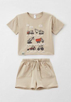 Пижама Sela. Цвет: бежевый