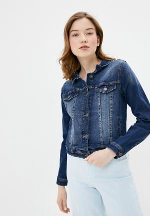 Куртка джинсовая Ichi. Цвет: синий