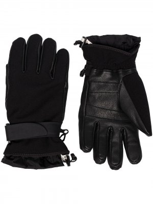 Трикотажные перчатки Moncler Grenoble. Цвет: черный